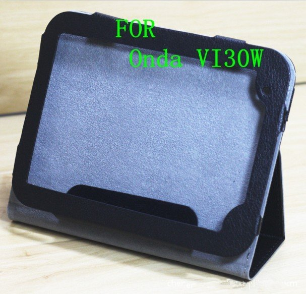 PU Black Leather Case Cover Stand for Onda Vi30W ; for VI30W stand leather case ;free shipping china post air mail .<br><br>Aliexpress