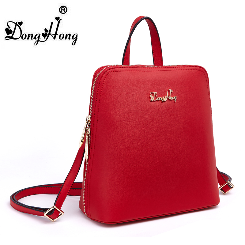 Fashion small fresh double-shoulder genuine leather girls back pack 100% real leather Donghong brand bag<br><br>Aliexpress