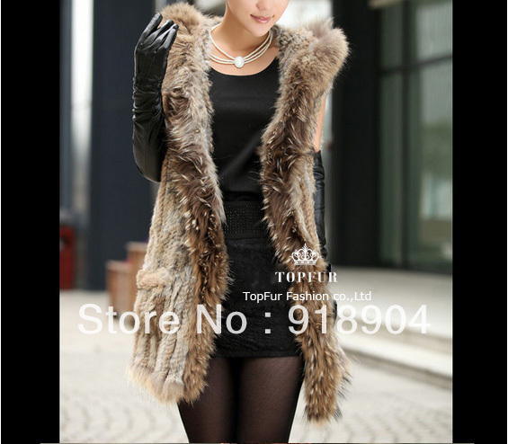 Free Shipping Women 2014 New Real Genuine Rex Rabbit Fur Vest Gilet waistcoat Fur Vest Outwear Garment TF106Одежда и ак�е��уары<br><br><br>Aliexpress