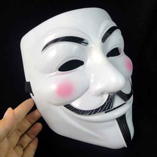 Details about NEW V for Vendetta Anonymous Film Guy Fawkes Face Mask Halloween Fancy Cosplay(China (Mainland))