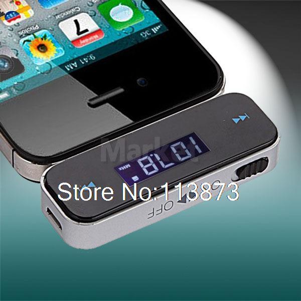 1pc Wireless Car FM radio Transmitter 3.5mm Audio For iphone ipod Galaxy S mp3 play(China (Mainland))