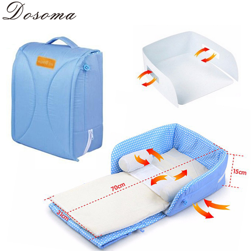 Baby's Folding Bed : ... Bed Tent Baby Bed 100%Cotton Sleepping Basket Folding Baby Crib Bercos