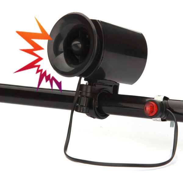 6 Sounds Ultra-loud Bicycle Bike Electronic Bell Horn Alarm Speaker Siren(China (Mainland))