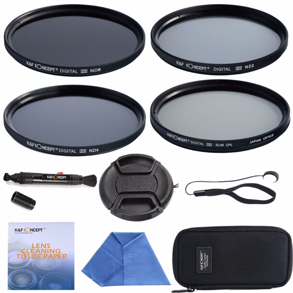 37mm CPL + ND2 ND4 ND8+Cleaning kits+ pouch bag Filter Kit Lens Filter Kit for Nikon D7100 D7000 D3100 D3000 Dslr Camera(China (Mainland))