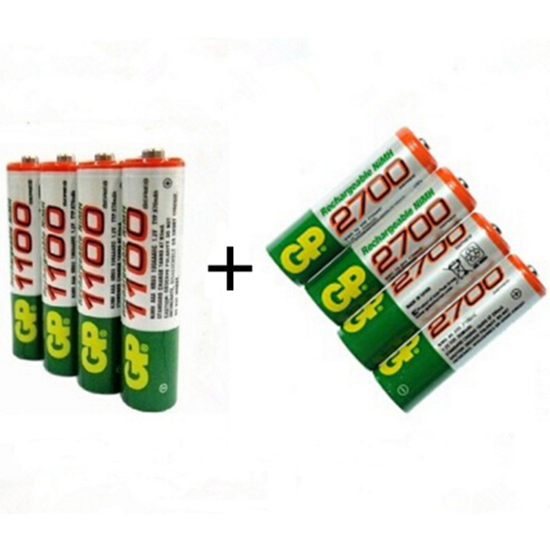 Generic AA Rechargeable Ni-MH Batteries (Card of 2) 1.2v