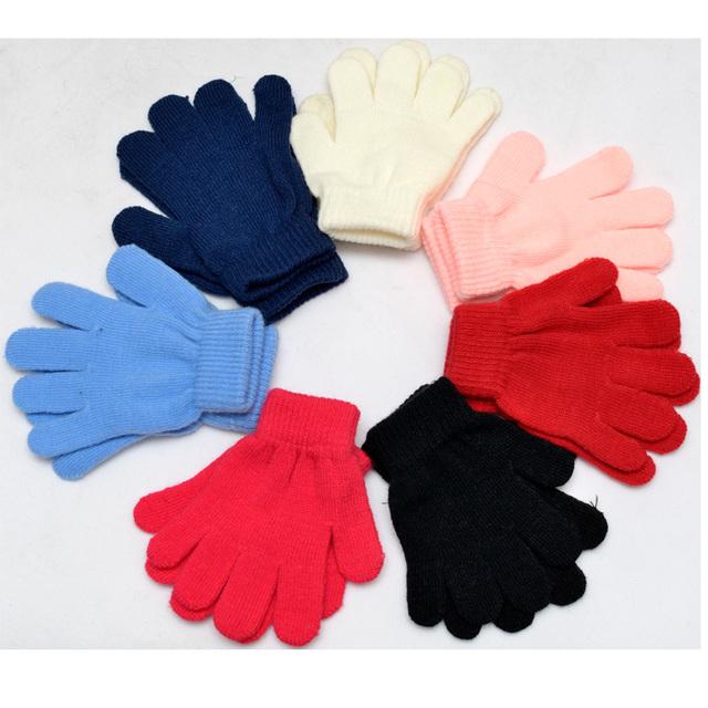 2015 зима теплая фитнес твердые дети детей вязаные варежки зимние перчатки дети для ...