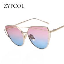 ZYFCOL Cat Eyes Women's Sunglasses For Women Summer Style Vintage Sun glasses Woman Double-Deck Alloy Frame UV400 2016 New