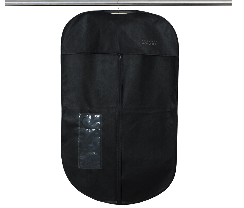 2015 HOT 96*60cm Non-Woven Men Clothing Dust Cover for Women Clothes Dustproof Suit Cover & Black(China (Mainland))