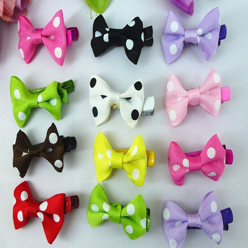 1 Pack /10pcs RANDOM COLOR cute Girl Hair Clip Toddler Ribbon Bow Hairband Baby Kids Satin Bowknot Headband HAIR ACCESSORIES(China (Mainland))