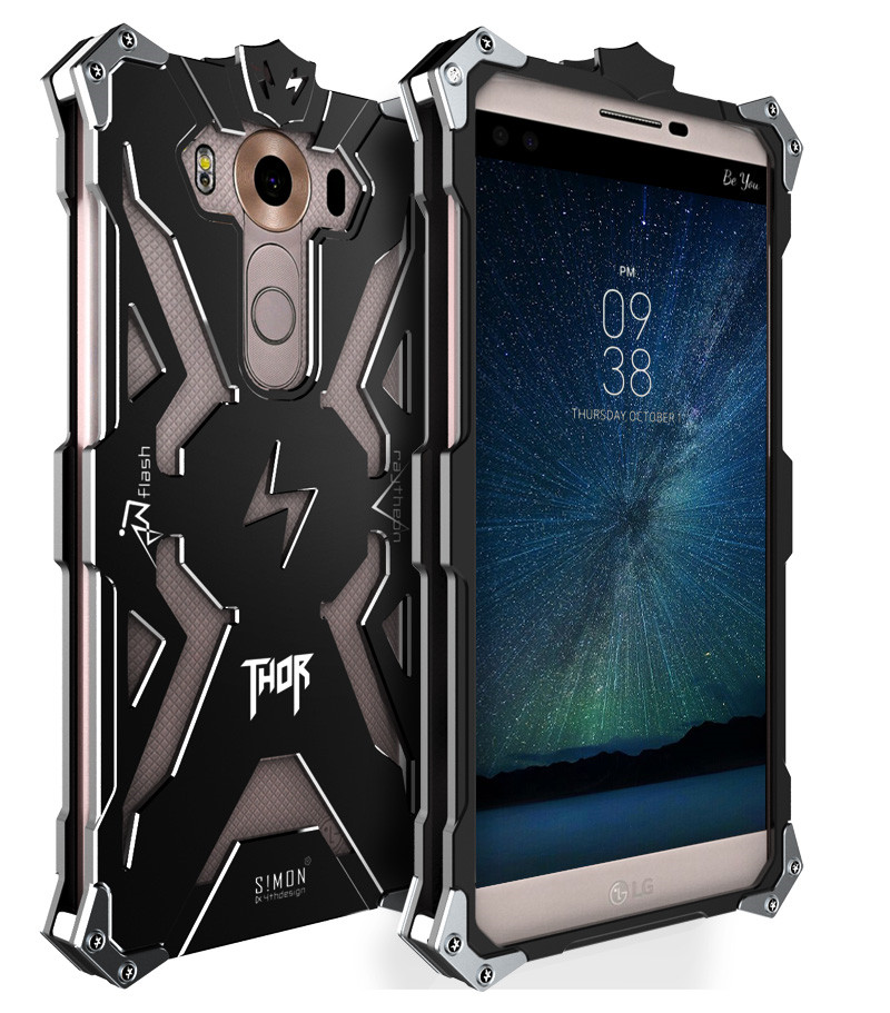 Case For LG V10 Brand Thor Luxury Heavy Duty Armor Metal Aluminum protect Case Mobile Phone Back Cover bag For LG V10 cases h968(China (Mainland))