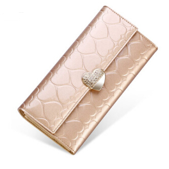 Здесь можно купить  Free shipping Fashion PU Leather Women lady long Wallet Multifunctional gold Ladies Clutch Thin Coin Purse  Камера и Сумки