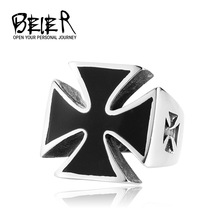 World War II Iron Cross Man's Stainless Steel Fashion Ring German Personality TG0098