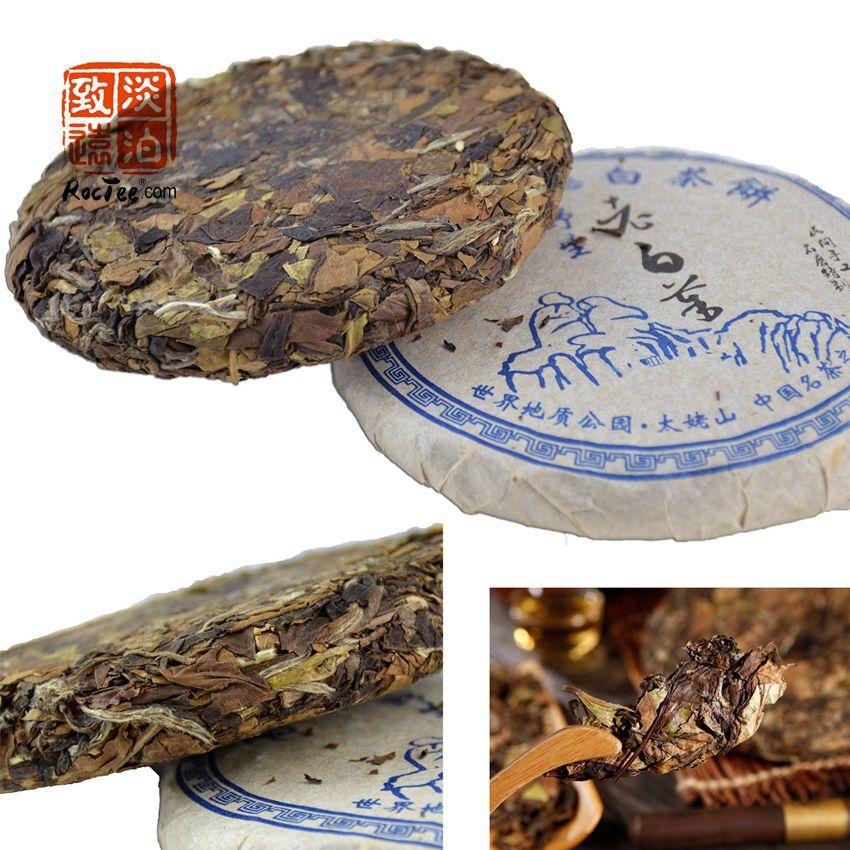 2006 year Aged Old Organic White Tea 100g Fuding Original ShouMei Lao Bai Cha Tea Cake Anti-cancer Te Product Free Shipping(China (Mainland))