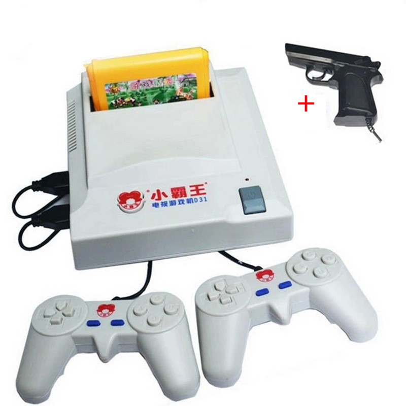 Family Video Game Consoles Subor D31 TV game console 8 bit Double handle classic shooting game+400 IN 1 card Wholesale With Box(China (Mainland))