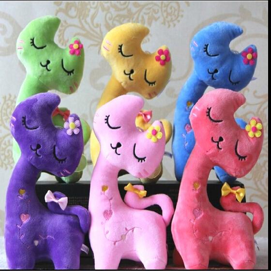 1 ШТ Высокая 20 см мультфильм милый кот счастлива кошка кукла плюшевые игрушки подарок