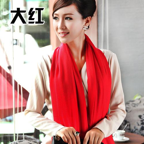 European Style New Fashion 2015 Hot Sale Women Cashmere Fringed Scarf Solid Wool Shawl 200cm*70cm Lady Wraps Scraf 7995(China (Mainland))