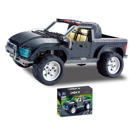 Educational 6889 Hummer car, Motorcycle(two spellings)720pcs Compatible With Ligo Assembles Particles Block Toys Free Shipping