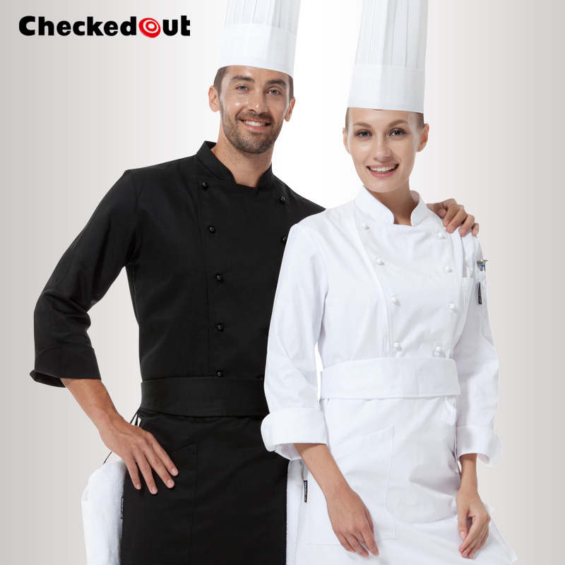 2015 NEW White Long Sleeve Hotel Best Executive Chef Coats Ladies High Quality Custom Master Chef Uniforms Jackets Free Shipping(China (Mainland))