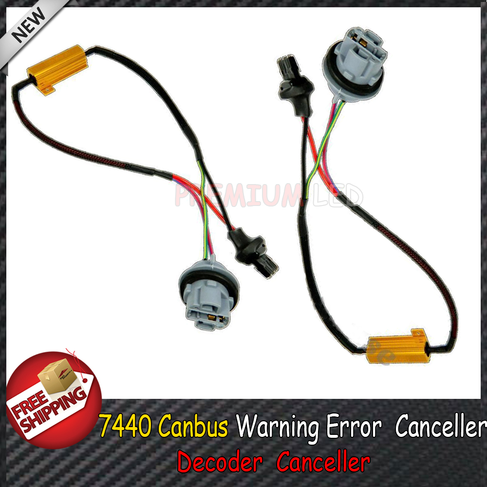 2pcs 7440 Canbus Error Free Resistor LED Decoder Warning Error Canceller For 7440 7444 T20 992A LED Turn Signal Bulb(China (Mainland))