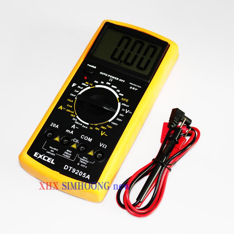 DT9205A ac / dc professional lcd display portable electrical tester meter multimeter digital multimeter multimeter ammeter