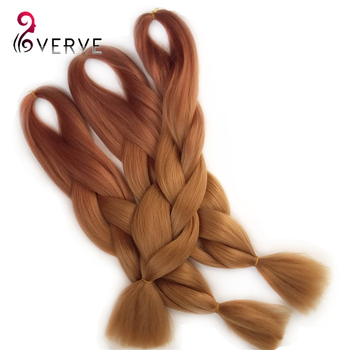 Braiding Synthetic Two Tone Hair Extensions