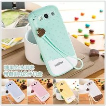 For Samsung Galaxy S3 Case Silicone Back Cover Cute Melting Ice Cream Chocolate Smell Soft Silicon Capa Cases For Galaxy S3(China (Mainland))