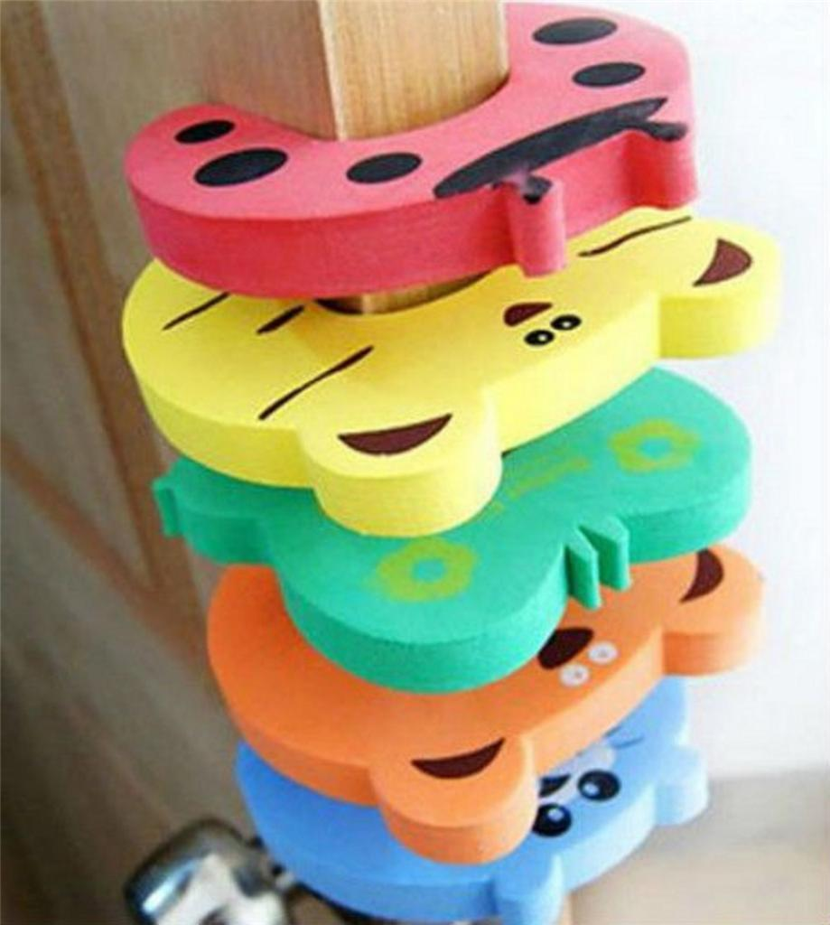 5 PCs Child kids Baby Animal Cartoon Jammers Stop Door stopper holder lock Safety Guard Finger Protect wholesale(China (Mainland))