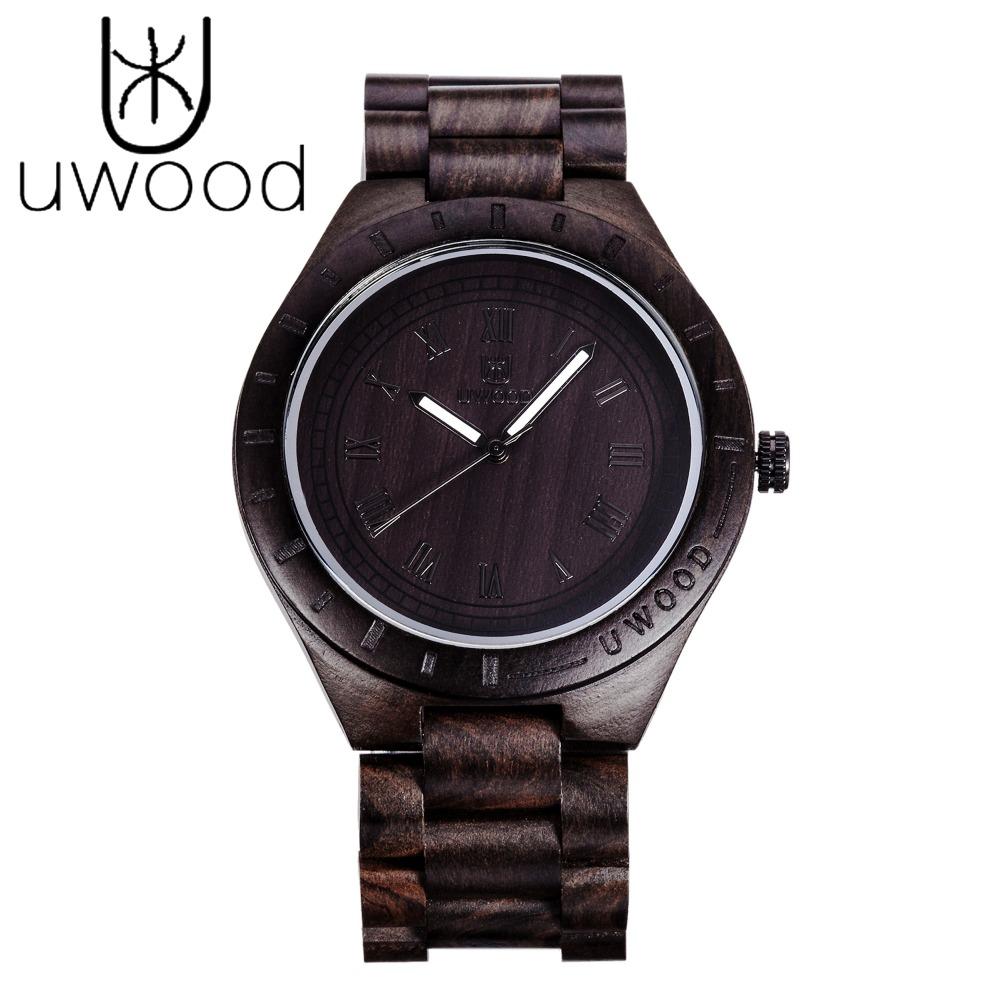 Handmade Men's Wooden Watch 100% Natural Maple and Ebony Wood wrist watch Men 2016 Newest japanese miyota movement Role Relogio(China (Mainland))