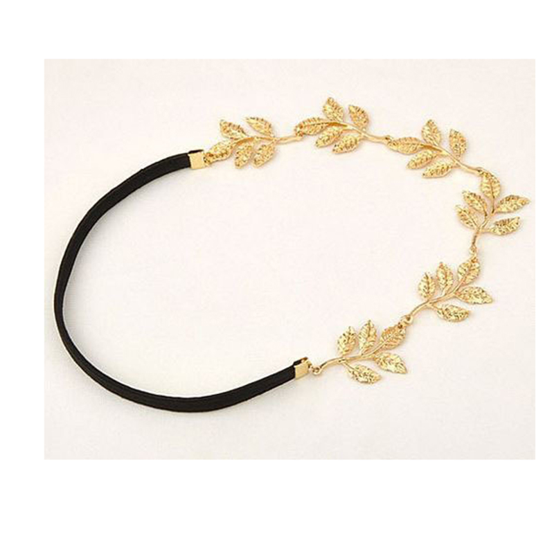 Hot Sale Fashion Tiara Gold Plated Leaves Hairbands For Wedding Bridal Hair Accessory Women Jewelry XF2015060(China (Mainland))