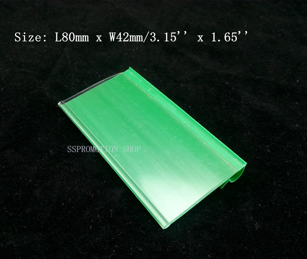 By Express Green PVC Plastic Price Tag Label Display Holder 80x42mm On Supermarket Or Store For Storage Shelf Rack Hook 850pcs(China (Mainland))
