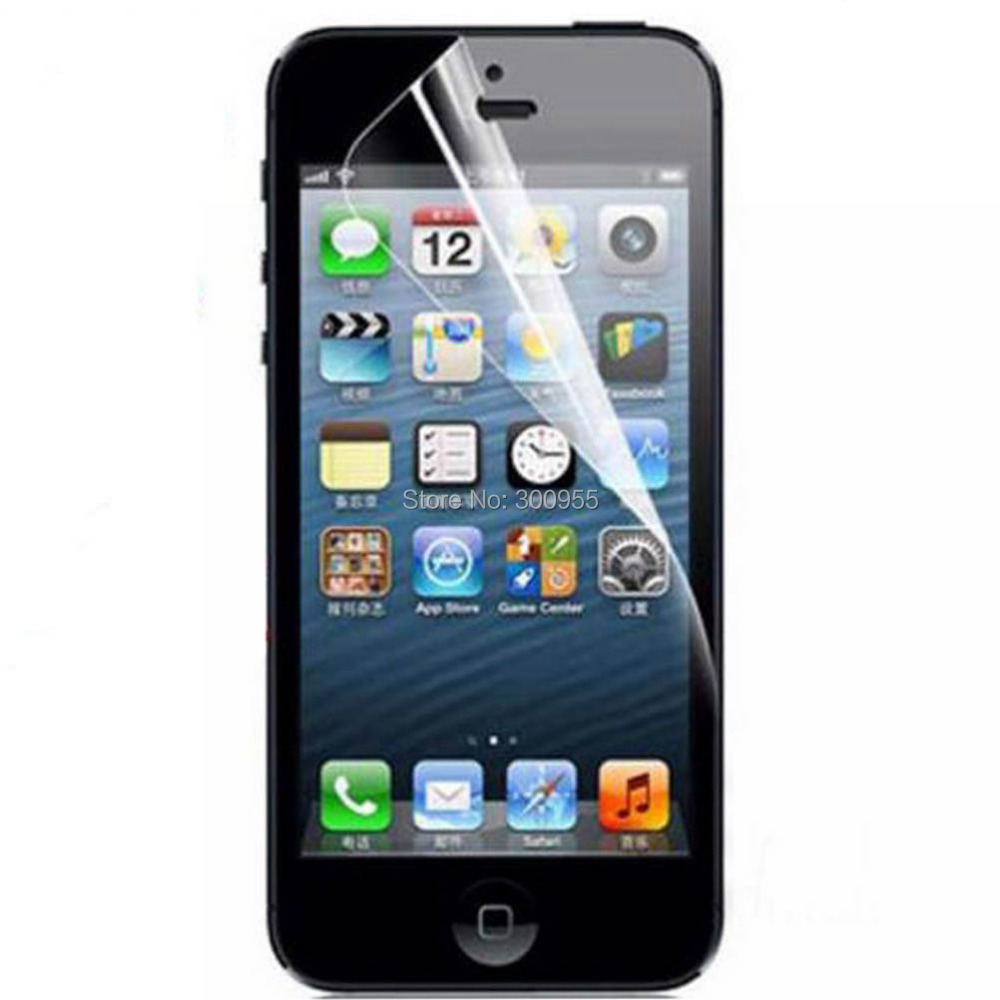 10 pcs/lot Free shipping Transparent Front Screen Protector for Apple iPhone 5 5s WHD705(China (Mainland))
