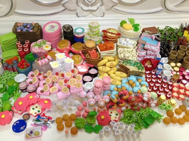 60Pcs/lot Re-ment 1/12 Mini Food Tableware Miniatures Lovely Dollhouse Meal Drink Megahouse For Barbie BJD Doll House Play Toys(China (Mainland))