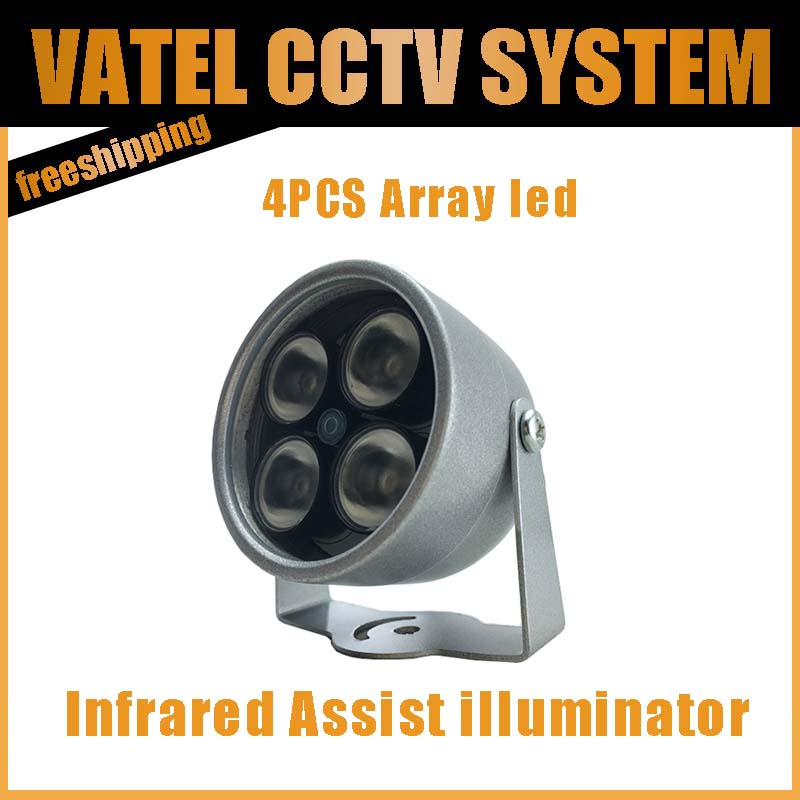 Infrared assist illuminator 4 Big LED CCTV IR Infrared Night Vision For Surveillance Camera wholesale Dropshipping(China (Mainland))