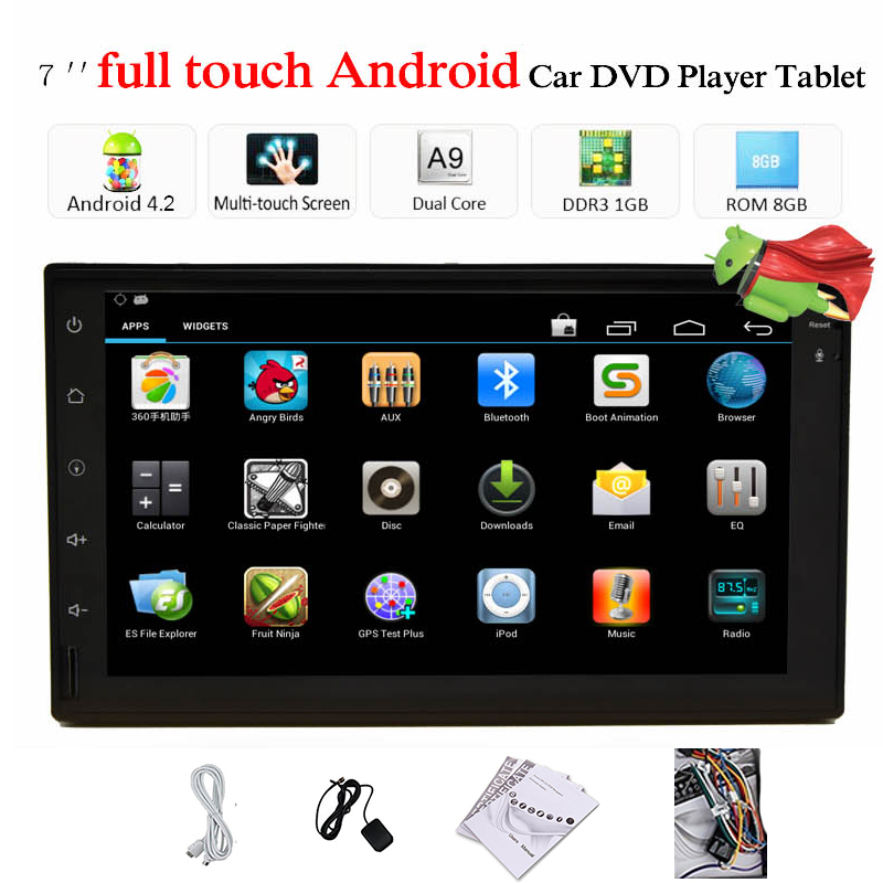 2DIN Android 4.2 Car Player 7'' Capacitive Multi Touch GPS Navigation Car Stereo WIFI Car Radio Bluetooth IPOD/USB/SD No DVD(China (Mainland))