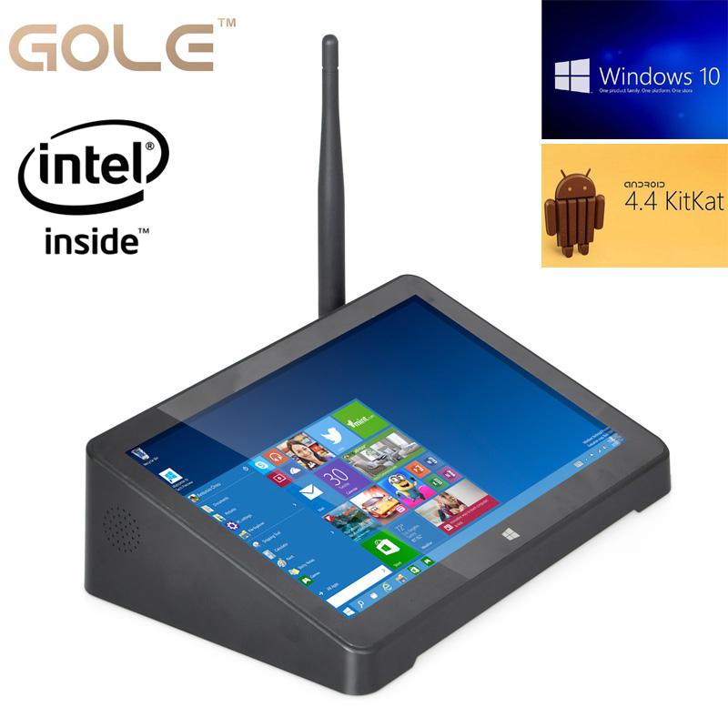 7inch 1280x800 IPS Windows 10 Android 4.4 mini computer Intel baytrail quad core 32GB 64GB storage mini PC with HDMI RJ45 WIFI(China (Mainland))