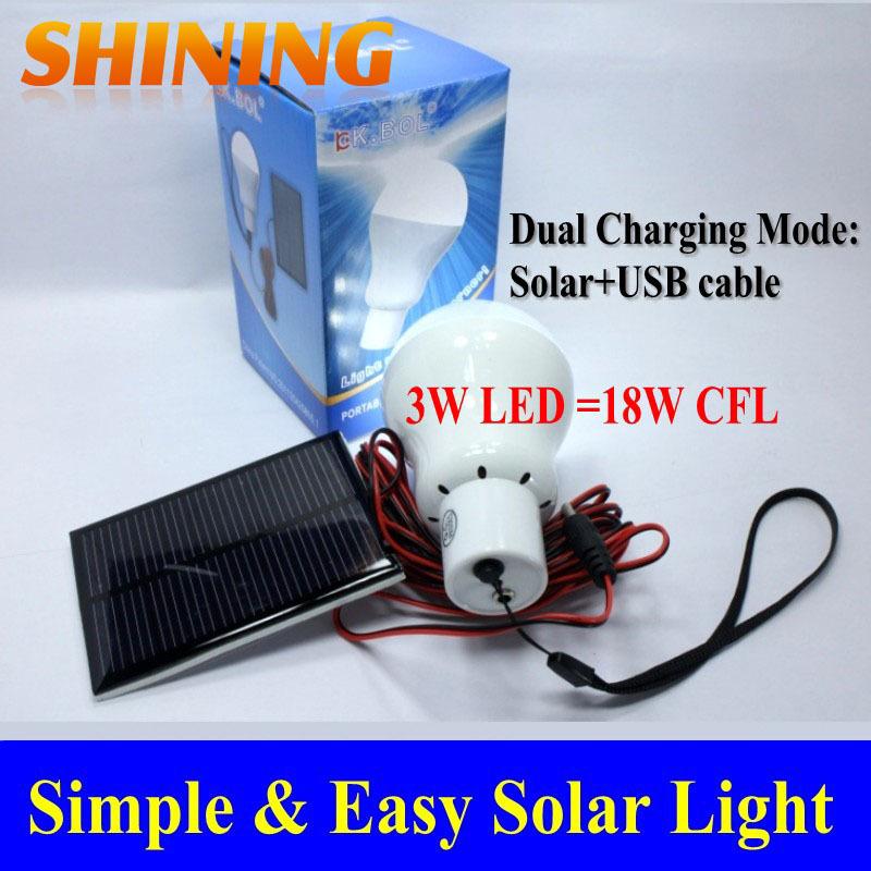 Free Shipping Solar Panel Powered LED Light, Portable Solar Home Camping Emergency Indoor Light Lamp Lighting Kits(China (Mainland))