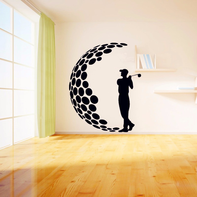 2016 Play Golf Vinyl Wall Stickers 3D Visual Effects