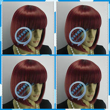 New Cosplay Wig Universal BOBO Head Dark Red wig Christmas wig @@ FREE SHIPPING Party hair