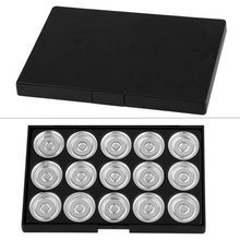 20 Pack Makeup Empty 15 pcs Aluminum Eyeshadow Pans with Palette
