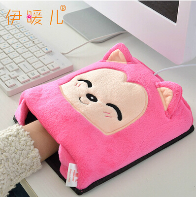 2015 Hot New Lovely Cartoon Hand Warmer Cute Plush Cover 6 Color Mouse Pads Usb Hands Warm Heat Source Pad Free Shipping(China (Mainland))