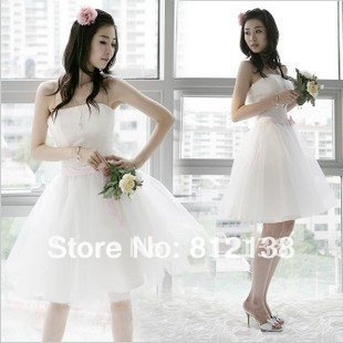 Promotion product  crazy cheap 2012 new chiffon bridesmaid dress in cream dress of brief paragraph dress hot sell