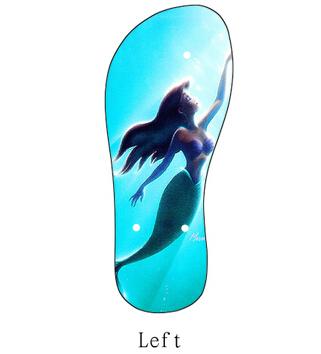 2015 New DIY Princess Little Mermaid Beautiful Sandal Beach Slipper Summer PVC Flip Flops For both Men and Women(China (Mainland))