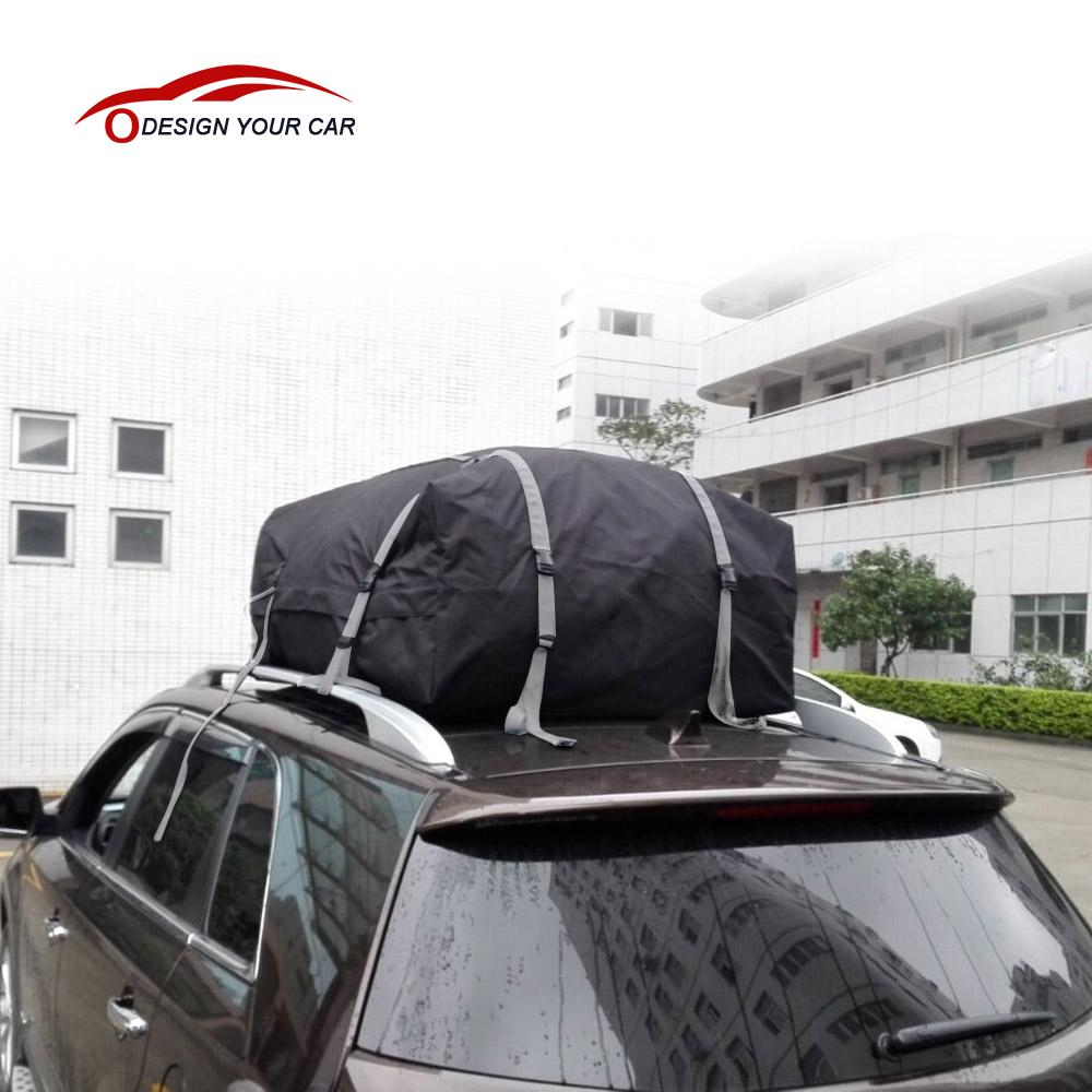 Overseas STOCK KKMOON Waterproof Roof Top Cargo Bag Expandable Luggage Travel Bag Carrier for Any Car SUV Van with Roof Rack(China (Mainland))