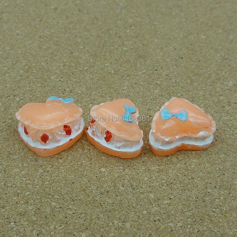 5pcs/lot resin orange pear shape cake 15mm Cabochons Scrapbooking Hair Bow Center Card Frame Making Craft DIY B005-1(China (Mainland))