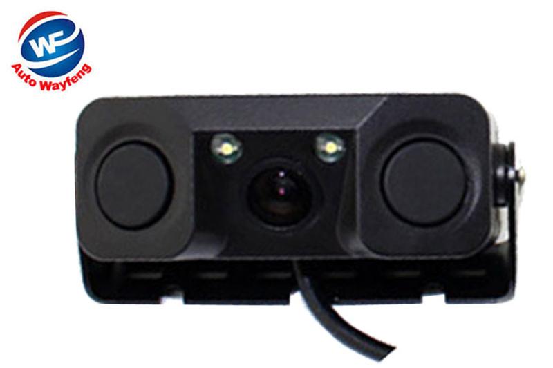 Car Video Parking Camera Sensor Rear View Camera with 2 Sensors Indicator Bi Bi Alarm Car Reverse Radar Assistance System(China (Mainland))