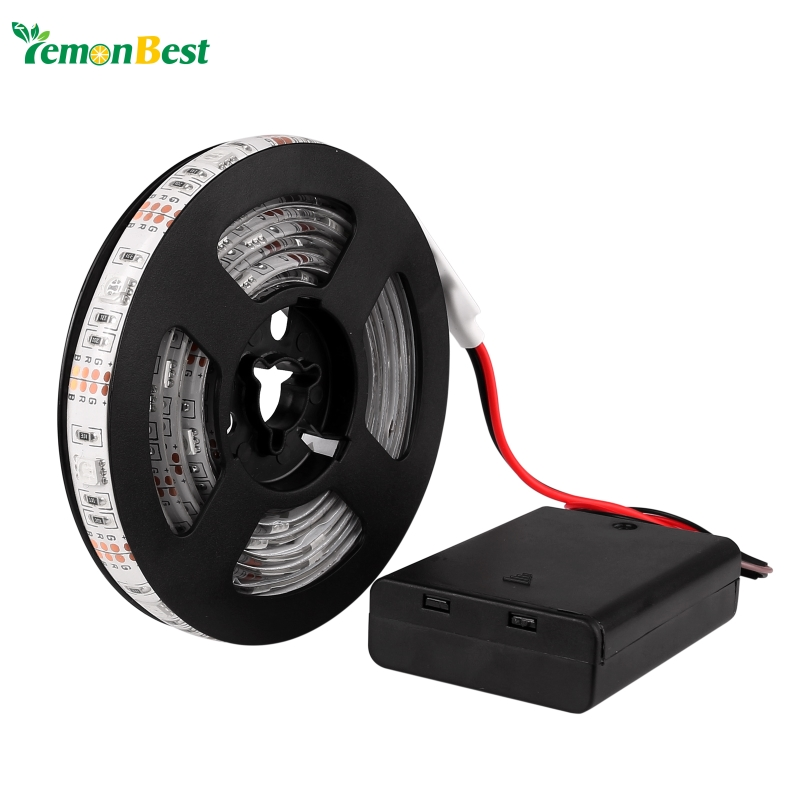 Led Strip Light Waterproof IP65 200cm 5050 SMD LED Flexible Strip Tape + Battery Box with Mini Controller For Home Decoration(China (Mainland))