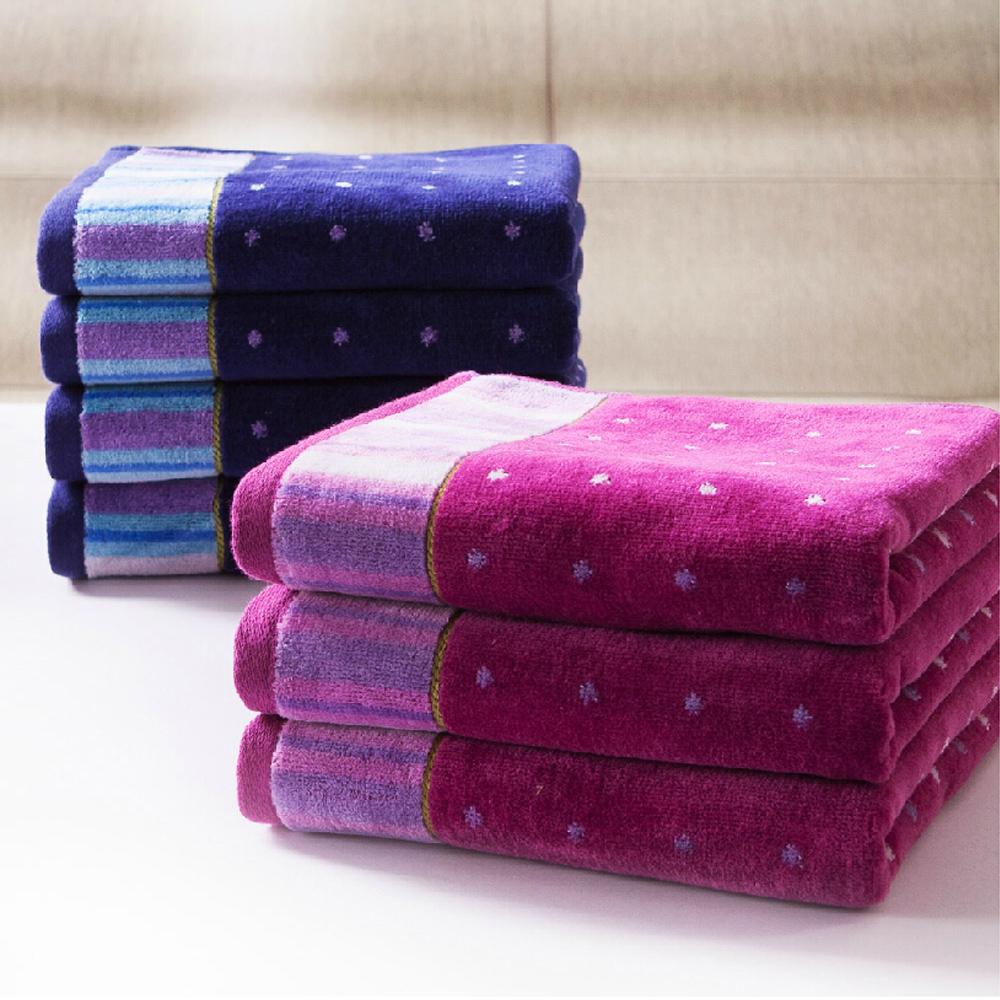 2015 Towels Serviette De Plage 100% Cotton Towel Mention Satin Waste-absorbing Lovers Soft Terry Design Washcloth Fashion Polka(China (Mainland))