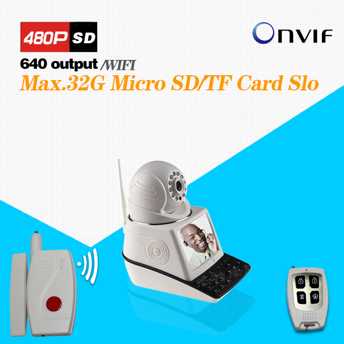 Wireless Video Call IP Camera Kit with Door Magnetic Door Alarm Super High Voice Quality Voip Phone(China (Mainland))