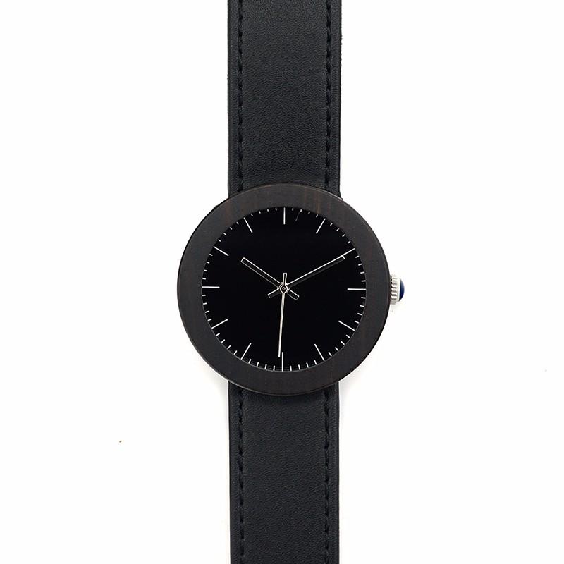 БОБО ПТИЦА I30 Водонепроницаемый Деревянный Часы для Женщин Подарок Натурального Дерева Часы Япония Движение Кварцевые Наручные Часы Черный Кожаный Ремешок