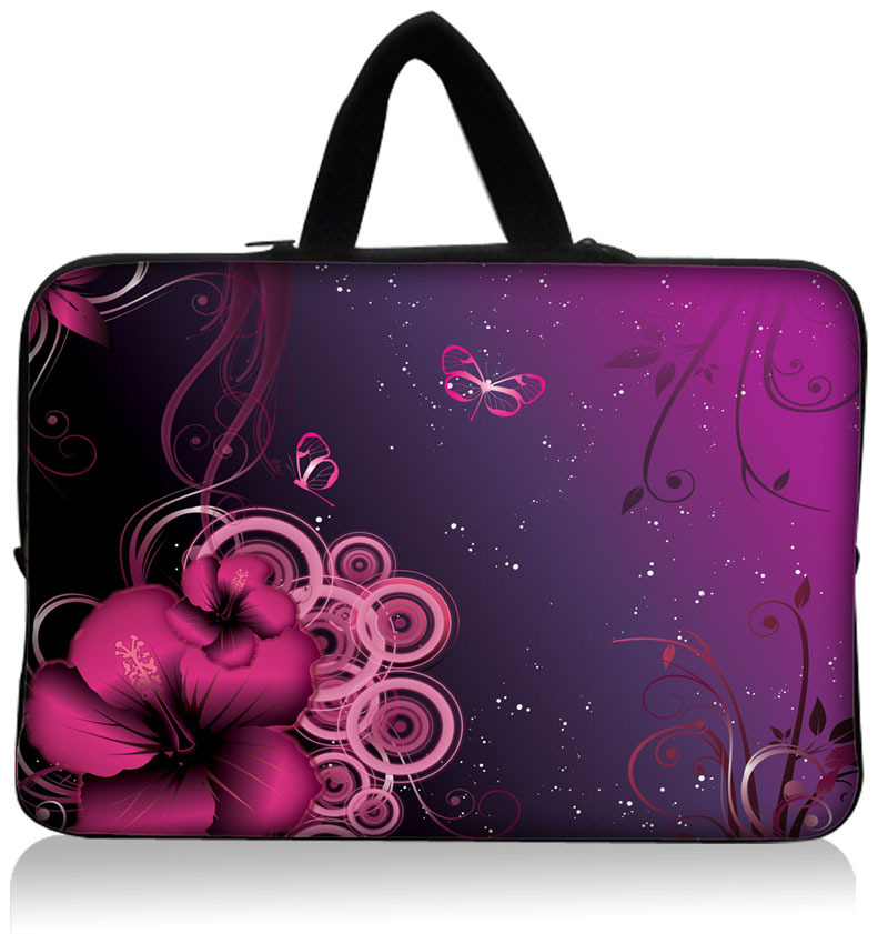 """Fashion Color Flower World Neoprene 9"""" 10"""" 10.1"""" 10.2"""" Laptop Netbook Tablet PC Sleeve Bag Case Pouch Cover + Invisible handle(China (Mainland))"""